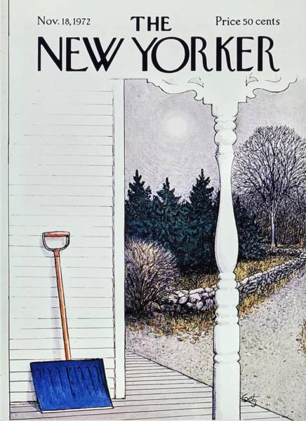 Porch Painting - New Yorker November 18th 1972 by Arthur Getz
