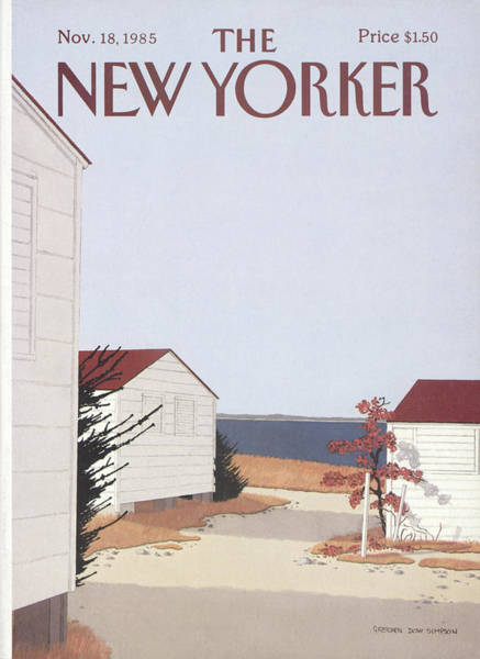 Roof Painting - New Yorker November 18th, 1985 by Gretchen Dow Simpson