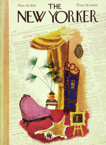 Plants Painting - New Yorker November 19 1938 by Leonard Weisgard