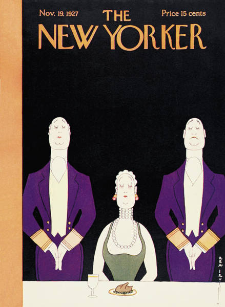 Dine Painting - New Yorker November 19th, 1927 by Rea Irvin