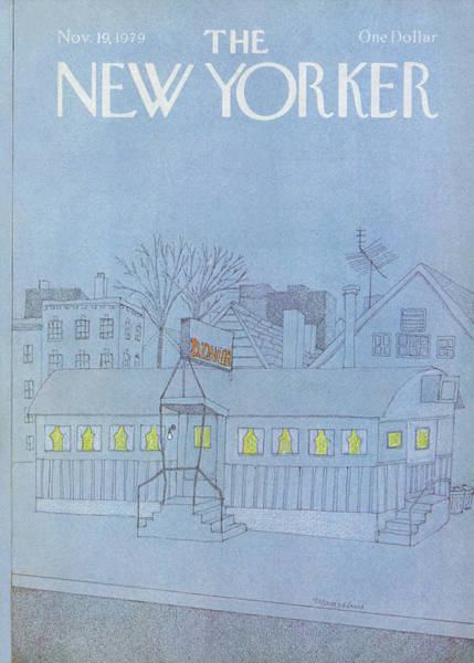 Restaurant Painting - New Yorker November 19th, 1979 by Marisabina Russo
