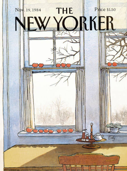 Apples Painting - New Yorker November 19th, 1984 by Arthur Getz