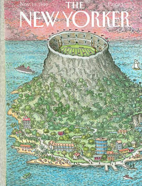 Resorts Painting - New Yorker November 19th, 1990 by John O'Brien