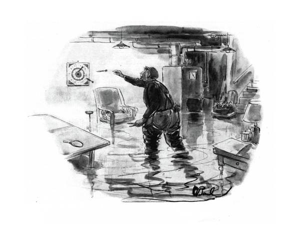 Flood Drawing - New Yorker November 1st, 1941 by Perry Barlow