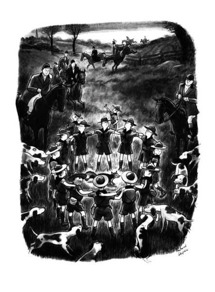 Innocence Drawing - New Yorker November 1st, 1941 by Richard Decker