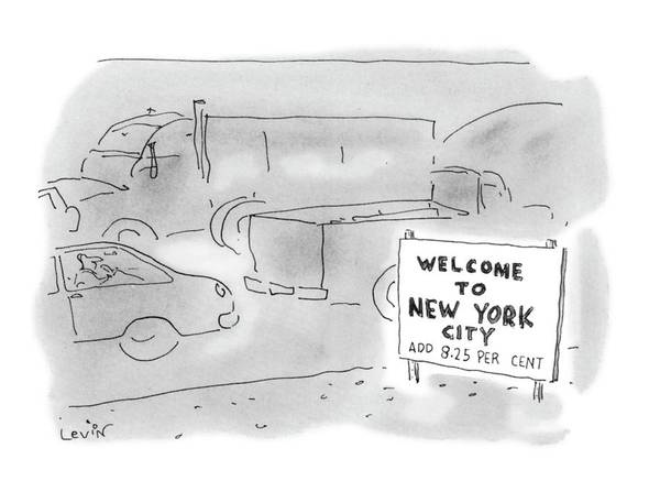 Welcome Drawing - New Yorker November 1st, 1993 by Arnie Levin
