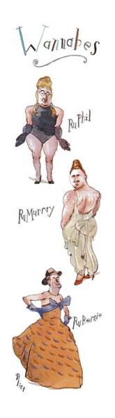 Celebrities Drawing - New Yorker November 1st, 1993 by Barry Blitt