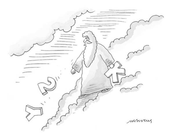 Mythology Drawing - New Yorker November 1st, 1999 by Mick Stevens