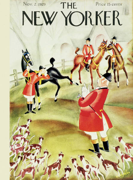 Magazine Cover Painting - New Yorker November 2 1929 by Constantin Alajalov