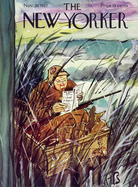 Reading Painting - New Yorker November 20 1937 by Perry Barlow