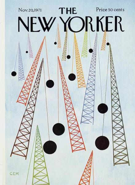 1971 Painting - New Yorker November 20th 1971 by Charles Martin