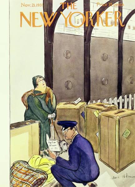 Illustration Painting - New Yorker November 21 1931 by Helene E. Hokinson
