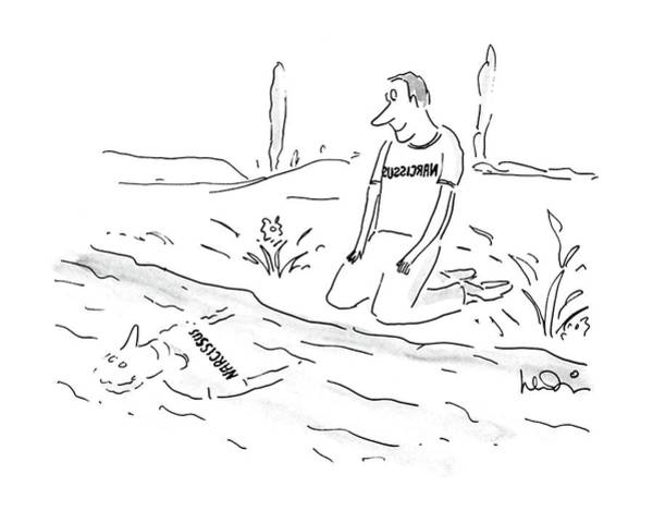 Watering Can Drawing - New Yorker November 21st, 1988 by Arnie Levin