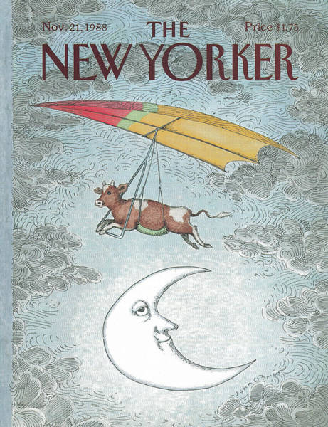 Moon Painting - New Yorker November 21st, 1988 by John O'Brien