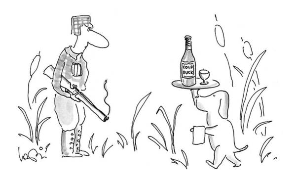 Wine Bottle Drawing - New Yorker November 21st, 1994 by Arnie Levin