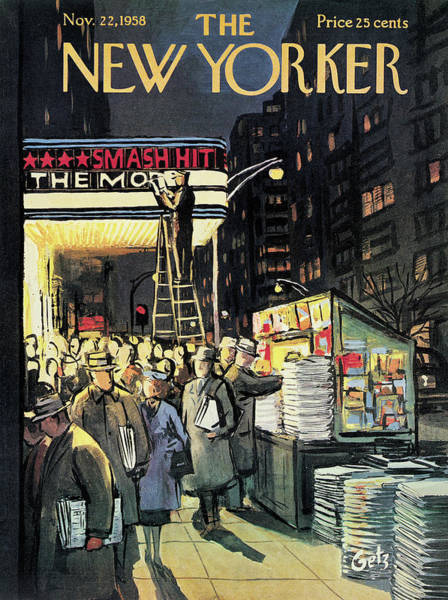 Men Painting - New Yorker November 22nd, 1958 by Arthur Getz