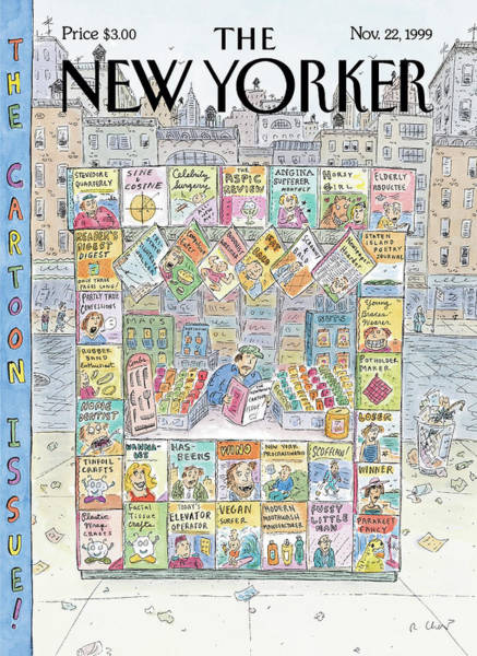 News Stand Painting - New Yorker November 22nd, 1999 by Roz Chast