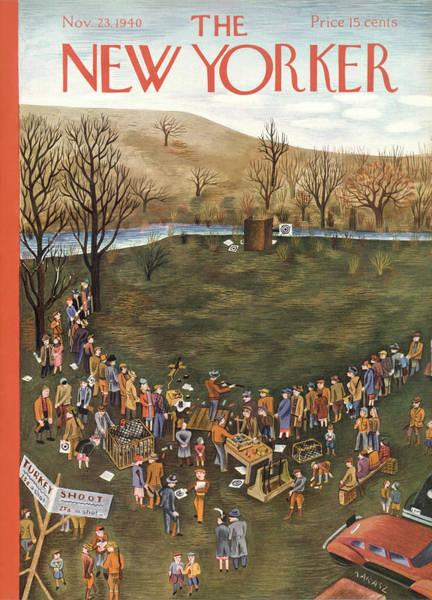 Ika Painting - New Yorker November 23rd, 1940 by Ilonka Karasz