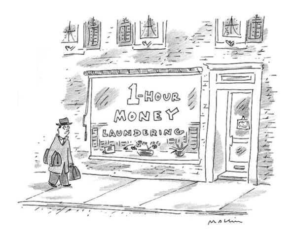 Storefront Drawing - New Yorker November 23rd, 1998 by Michael Maslin