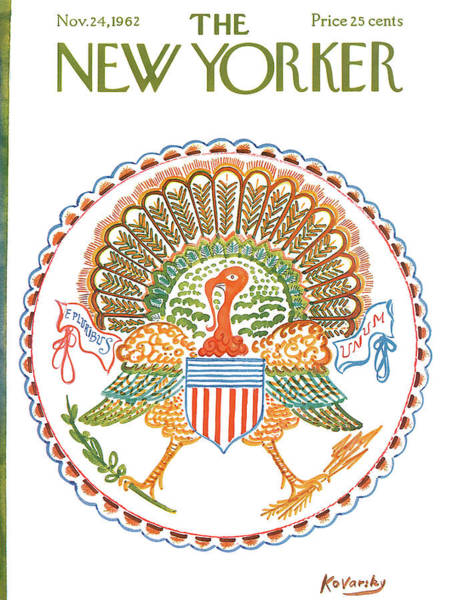 Thanksgiving Painting - New Yorker November 24th, 1962 by Anatol Kovarsky