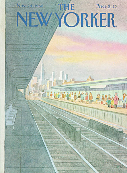 Suburban Painting - New Yorker November 24th, 1980 by Charles E. Martin