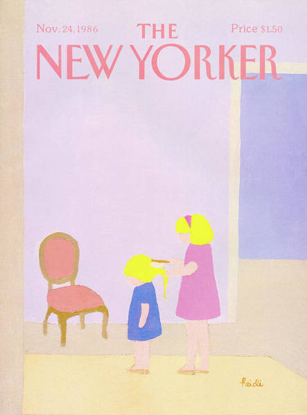 Family Painting - New Yorker November 24th, 1986 by Heidi Goennel