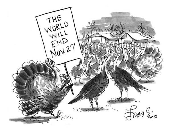 Murder Drawing - New Yorker November 24th, 1997 by Edward Frascino