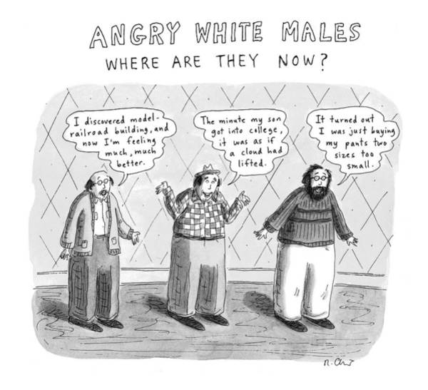 Male Model Drawing - New Yorker November 24th, 1997 by Roz Chast
