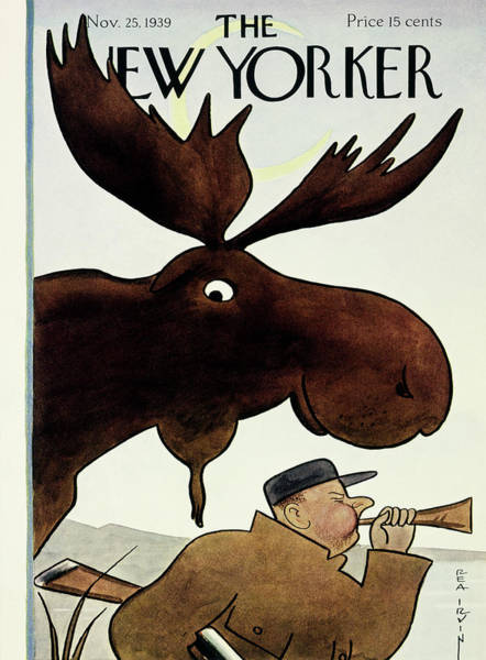 Wildlife Painting - New Yorker November 25 1939 by Rea Irvin