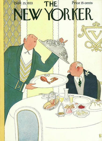 Dine Painting - New Yorker November 25th, 1933 by Gardner Rea