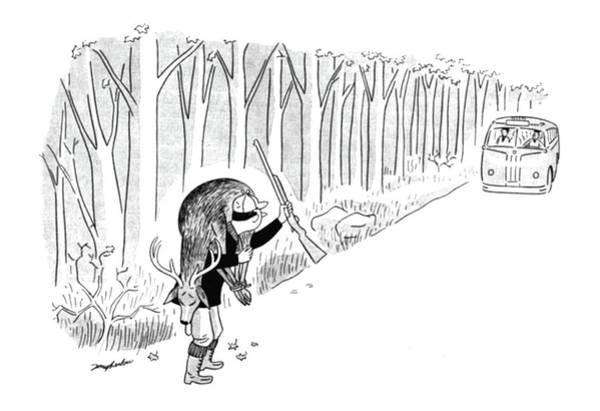 November 25th Drawing - New Yorker November 25th, 1944 by M. K. Barlow