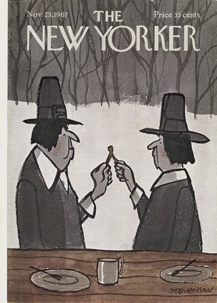 Celebration Painting - New Yorker November 25th, 1967 by James Stevenson
