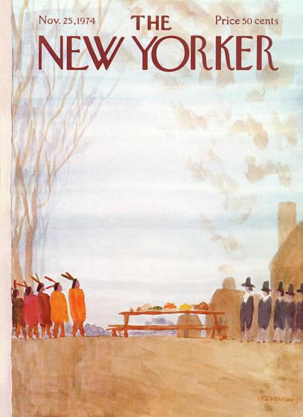 History Painting - New Yorker November 25th, 1974 by James Stevenson