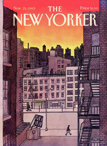 Architecture Painting - New Yorker November 25th, 1985 by Roxie Munro