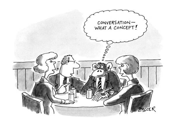 November 25th Drawing - New Yorker November 25th, 1991 by Jack Ziegler