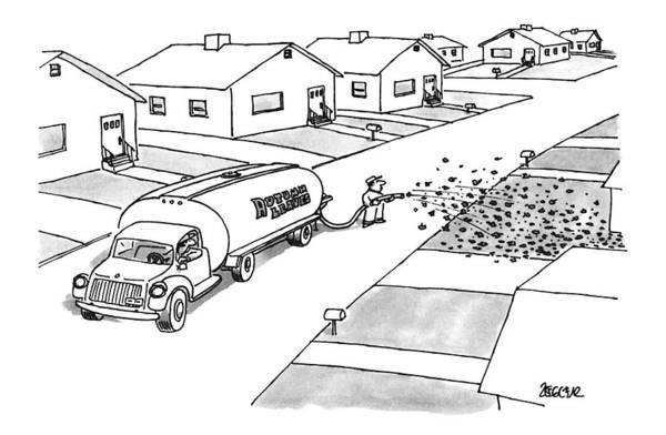 November 25th Drawing - New Yorker November 25th, 1996 by Jack Ziegler