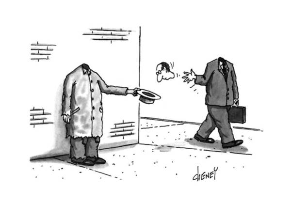 Wall Art - Drawing - New Yorker November 25th, 1996 by Tom Cheney
