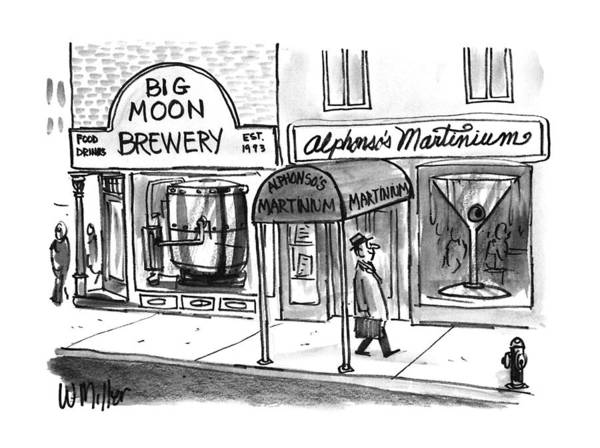 November 25th Drawing - New Yorker November 25th, 1996 by Warren Miller