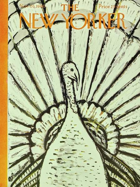 Thanksgiving Painting - New Yorker November 26th 1960 by Aaron Birnbaum