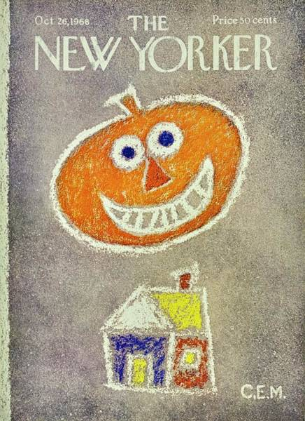 Wall Art - Painting - New Yorker November 26th 1968 by Charles E Martin