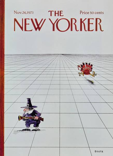 Thanksgiving Painting - New Yorker November 26th 1973 by George Booth