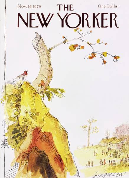 Thanksgiving Painting - New Yorker November 26th 1979 by Joseph Low