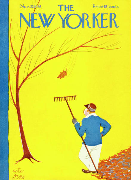 Magazine Cover Painting - New Yorker November 27 1926 by Peter Arno