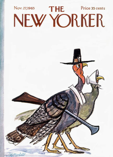 Dress Painting - New Yorker November 27th, 1965 by Frank Modell