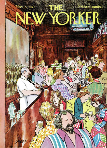 Dress Painting - New Yorker November 27th, 1971 by Charles Saxon
