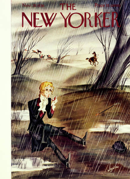 Magazine Cover Painting - New Yorker November 28 1936 by Constantin Alajalov