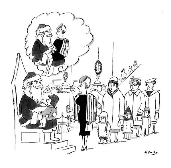 Flirting Drawing - New Yorker November 28th, 1959 by Anatol Kovarsky