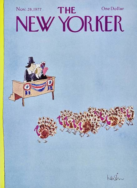 Wall Art - Painting - New Yorker November 28th 1977 by Arnie Levin