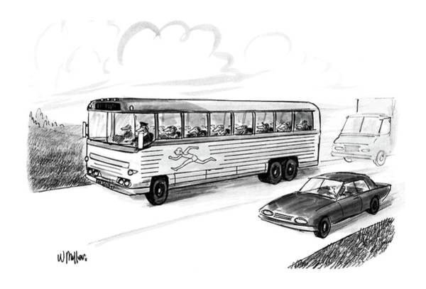 Auto Drawing - New Yorker November 28th, 1988 by Warren Miller