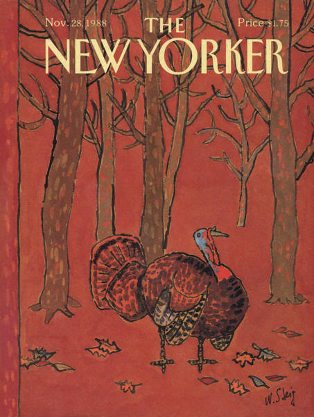 Thanksgiving Painting - New Yorker November 28th, 1988 by William Steig
